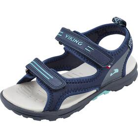 Viking Footwear Skumvaer II Sandals Kids Navy/Green